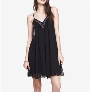 NWT Express Black Beaded Dress